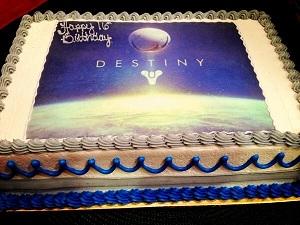 Destiny Video Game Cake Ideas